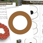 Class Poppy Wreath Craft Activity