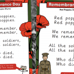 Remembrance Day Red Poppies Rhyme