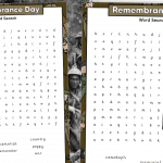 Remembrance Word Search