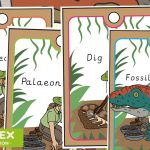 Dinosaur Fossil Dig Role Play Lanyards
