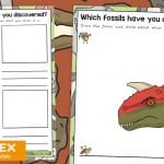 Dinosaur Fossil Dig Role Play Writing Opportunities