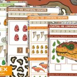 Dinosaur Maths – Counting and Comparing Challenges