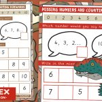 Dinosaur Maths – Counting Forwards And Backwards