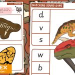 Dinosaur Reading – Match Initial Sound Cards