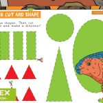 Dinosaur Maths – Cut and Stick Shapes Activity