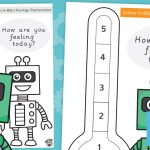 Buddy Bots – Blip's Feelings Thermometer (Colour In)