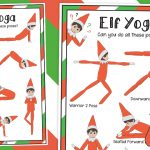 Elf on the Shelf Yoga Poses Mat