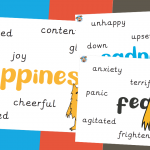 The Colour Monster Alternative Words For Emotions Posters