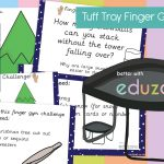 Tuff Tray Finger Gym Winter Activities