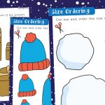 Winter Size Ordering Activity Sheets