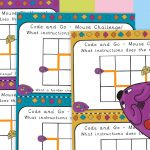 STEM Coding Mouse Maze Challenge Cards
