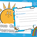 Proud Cloud Praise Postcards