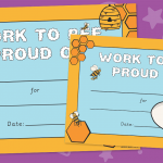 Work To Be Proud Of Certificate