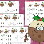 Christmas Pudding Calculations – Addition & Subtraction Challenges