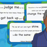 Nelson Mandela Display Quotes Pack