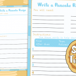 Shrove Tuesday Pancake Recipe Writing Activity