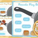 Shrove Tuesday Pancake Play Dough Mats
