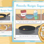 Shrove Tuesday Pancake Recipe Sequencing Cards Activity Sheet