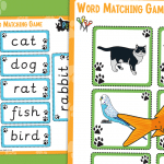 Pets Word Matching Game