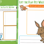 Pets Lift the Flap Writing Activity