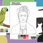 Frida Kahlo Colour by Numbers