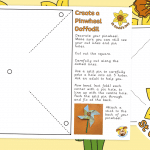 St David's Day – Create a Pinwheel Daffodil