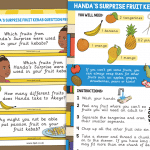 Handa's Surprise Fruit Kebab Recipe and Question Prompts