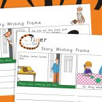 The Tiger Who Came to Tea Story Writing Frames
