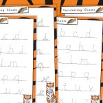 The Tiger Who Came to Tea Handwriting Sheets