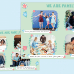 We are Family Photo Cards