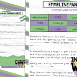 Emmeline Pankhurst Missing Word Comprehension
