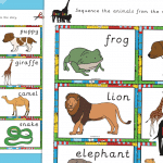 Dear Zoo  Story Sequencing Cards