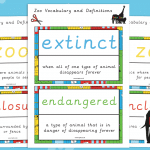 Zoo Vocabulary and Definitions