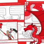 St George's Day Writing Story Speech Bubbles