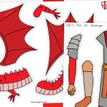 St George and the Dragon Split Pin Activity