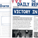 VE Day Newspaper Report