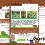 Gardens Information text and Comprehension