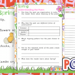 Four Seasons Descriptive Poems and Comprehension Activity Packs