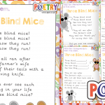 Three Blind Mice Poem Comprehension Activity Pack