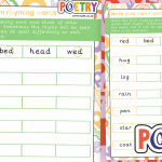 Poetry Writing Rhymes Activity
