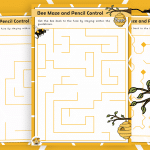 Bee Maze and Pencil Control Activity Pack