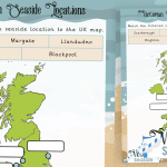 Victorian Seaside Locations Map Activity