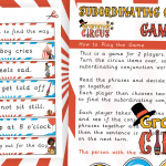 Subordinating Conjunctions Game
