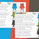 The Colour Monster Match the Monster to his Speech Bubble Reading Activity