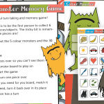 The Colour Monster Memory Game