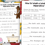 How to Wash a Woolly Mammoth Imperative Verbs
