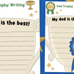 Father's Day Trophy Writing Activity