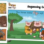 The Three Little Pigs Story Sequencing Cards