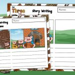 The Three Little Pigs Story Retell Writing Frames