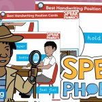 Best Handwriting Position Poster and Cards for SPEAK Phonics